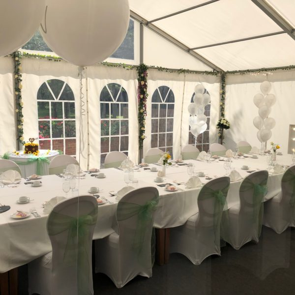 Marquee Wedding Layout